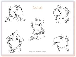 Coral Character Expressions