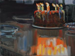 Birthday Cake, Oil