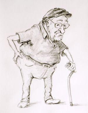 Mr G, Caricature, Pencil