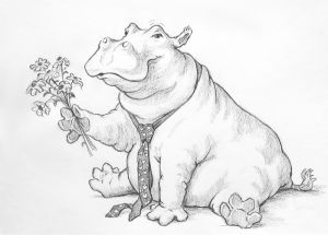Hippo Lover, Pencil