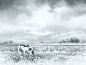 Grazing in a Spring Meadow - Value Study
